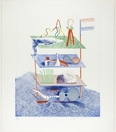 Eau-Forte Et Aquatinte Hockney - Serenade, from The Blue Guitar
