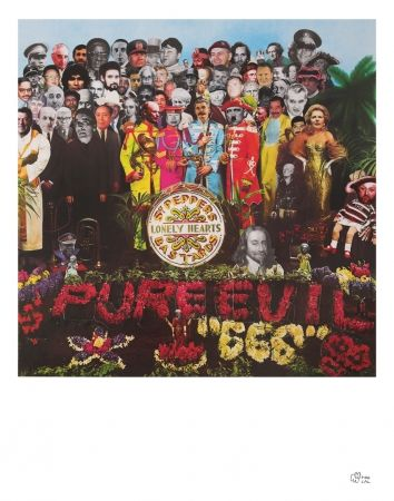 Sérigraphie Pure Evil - Sergent peppers lonely heart bastards
