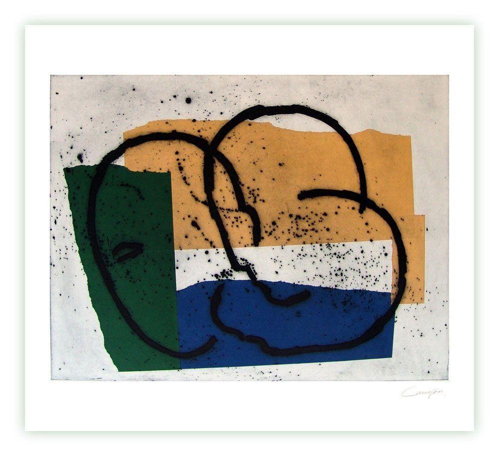 Gravure Canogar - Serie constructivista n-7-90