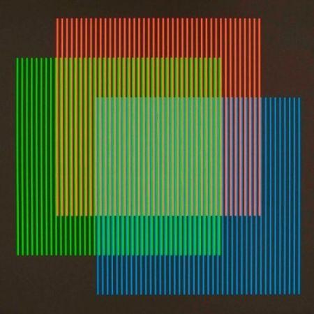 Lithographie Cruz-Diez - Serie semana - Lunes