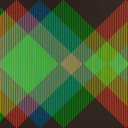 Lithographie Cruz-Diez - Serie Semana - Miércoles
