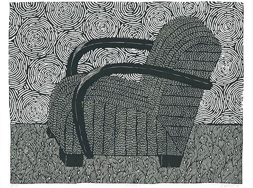 Linogravure Wahle - Sessel 4