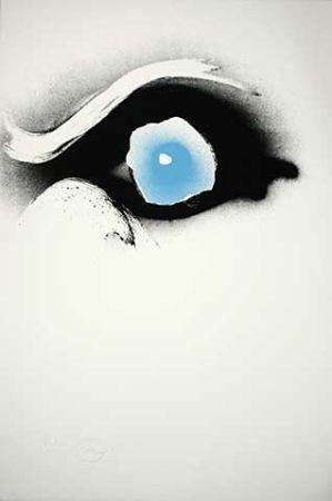 Sérigraphie Piene - Seuloeil blau/schwarzes Auge