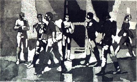 Eau-Forte Et Aquatinte Bishop - Seven Students