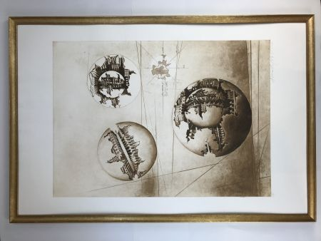 Eau-Forte Et Aquatinte Pomodoro - Sfera con sfera