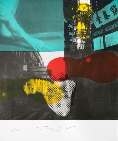 Lithographie Soulie - Shanghai Nocturne