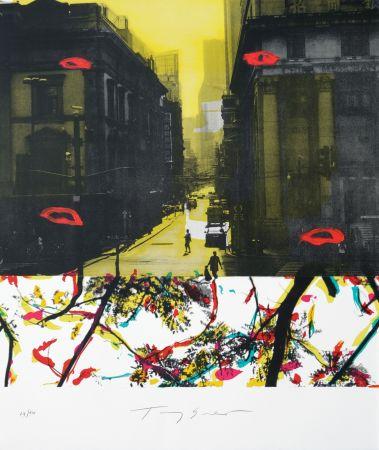 Lithographie Soulie - Shanghai Rue De La Soie