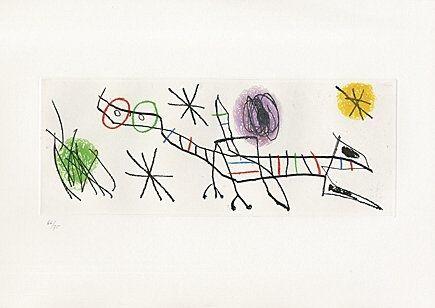 Eau-Forte Et Aquatinte Miró - Sheet 2 from