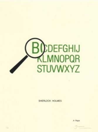 Lithographie Brossa - Sherlock Holmes