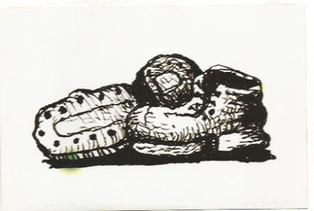 Lithographie Guston - Shoes