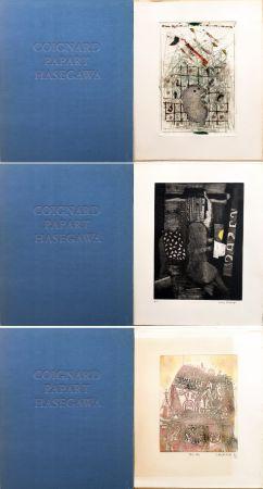 Eau-Forte Et Aquatinte Hasegawa - SHOICHI HASEGAWA - JAMES COIGNARD - MAX PAPART : HOMME DANS LA VILLE. 3 GRAVURES ORIGINALES