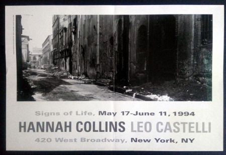 Affiche Collins - Signs of Life May 17- June 11 1994 Leo Castelli