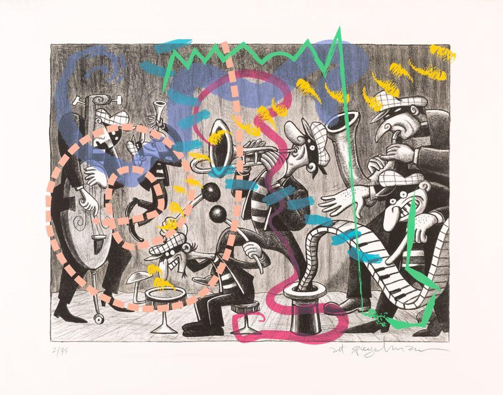 Lithographie Spiegelman - Silent Six
