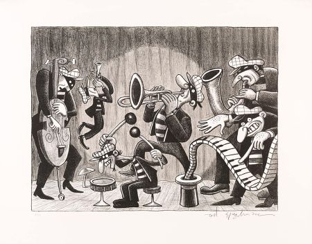 Lithographie Spiegelman - Silent Six (Black and White)