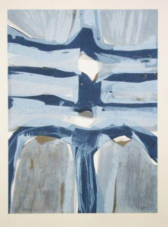Lithographie Ubac - Sillon vertical