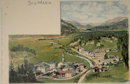 Lithographie Giacometti - Sils-Maria