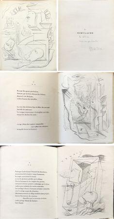 Livre Illustré Masson - SIMULACRE. 7 lithographies originales. Dédicacé (1925)