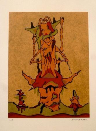 Lithographie Camacho  - Sin Título