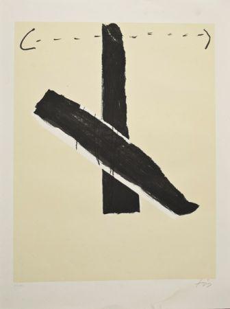 Lithographie Tàpies - Sin título
