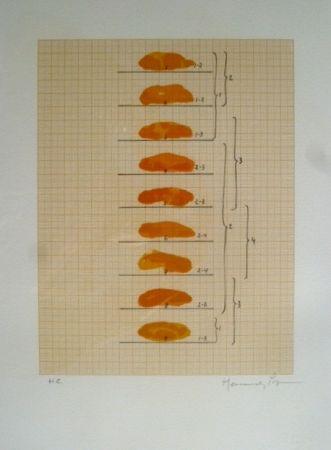Lithographie Hernandez Pijuan - Sin Título
