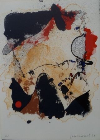 Lithographie Guinovart - Sin Título
