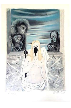 Lithographie Chapelain-Midy - Singes