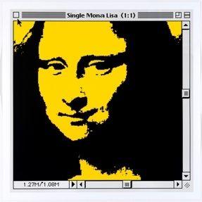 Lithographie Pusenkoff - Single Mona Lisa yellow for Barcelona
