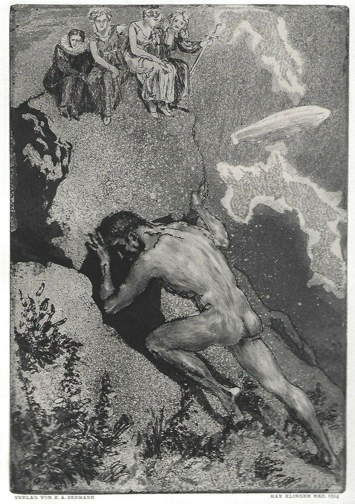 Eau-Forte Et Aquatinte Klinger - Sisyphus / Die Fakultäten