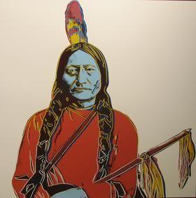 Sérigraphie Warhol - Sitting Bull