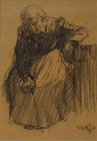 Monotype Junghanns - Sitzende alte Frau