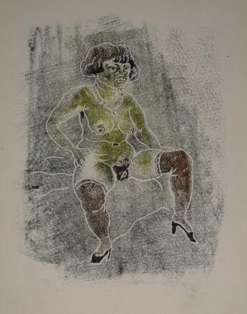 Monotype Schürch - Sitzender Akt