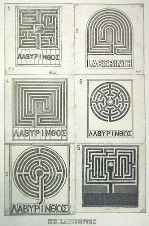 Aquatinte Tilson - Six labyrinths