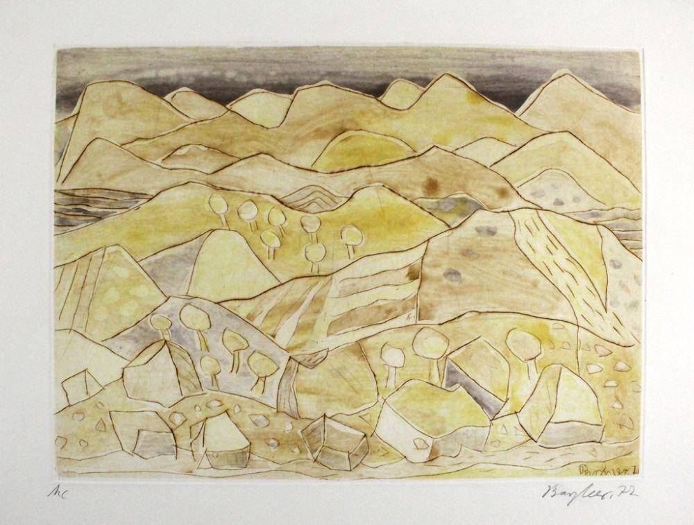 Eau-Forte Et Aquatinte Bargheer - Sizilianische Landschaft / Sicilian Landscape