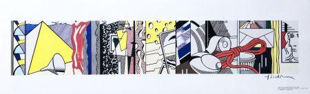 Lithographie Lichtenstein - Sketch for Greene Street Mural (Hand Signed)