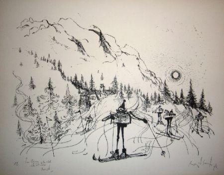 Lithographie Searle - Ski