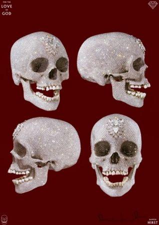 Affiche Hirst - Skull
