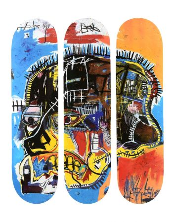 Multiple Basquiat - Skull Skateboards