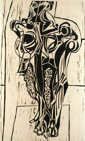 Linogravure Casarella - Skull Study