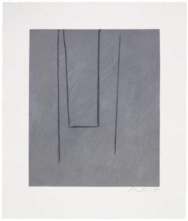 Eau-Forte Et Aquatinte Motherwell - Slate Gray Pintura