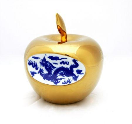 Céramique Lihong - Small Apple – gold