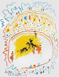 Lithographie Picasso - Small bull fight