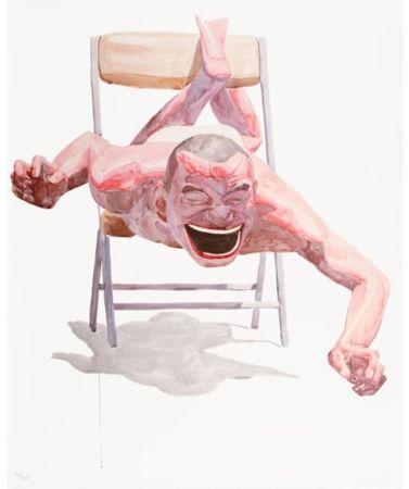 Lithographie Minjun - Smile-ism No. 21