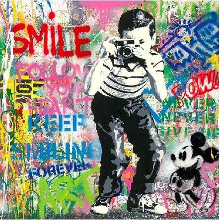 Sérigraphie Mr Brainwash - Smile, 2020