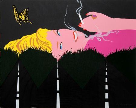 Sérigraphie D'arcangelo - Smoking Blonde