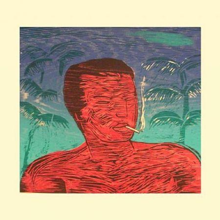 Gravure Sur Bois Montes (De) - Smoking Man
