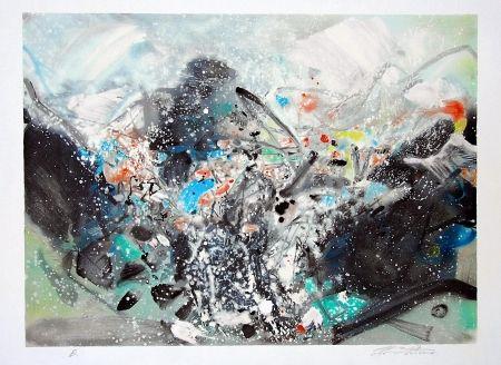 Lithographie Chu Teh Chun  - Snowstorm