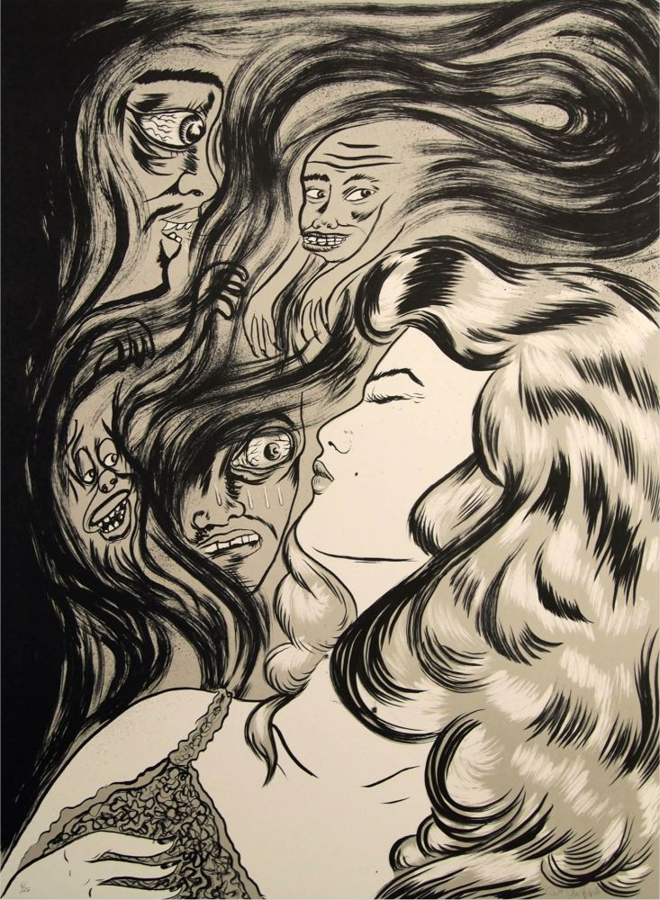 Lithographie Lakra (Dr.) - Soñando (Cautivos)