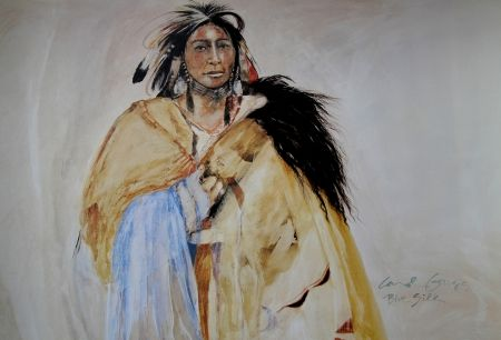 Offset Grigg - SOIE BLEUE - Indiens d'Amérique / Native Americans - Cherokee