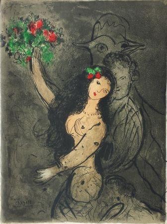 Lithographie Chagall - Soirée