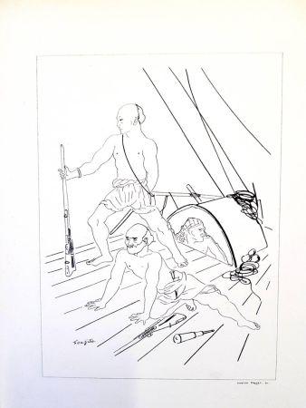 Lithographie Foujita - Soldat
